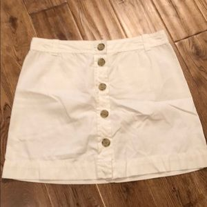 ivory J.Crew button front mini skirt - size 8
